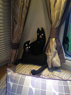 Pair of caravan cats made by Lena from Grimsby