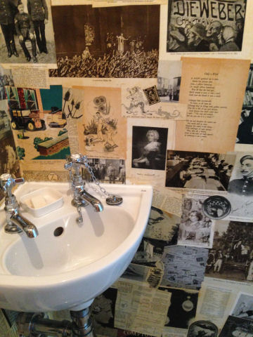 Wallpaper from loo in The Old Vicarage, Hastings